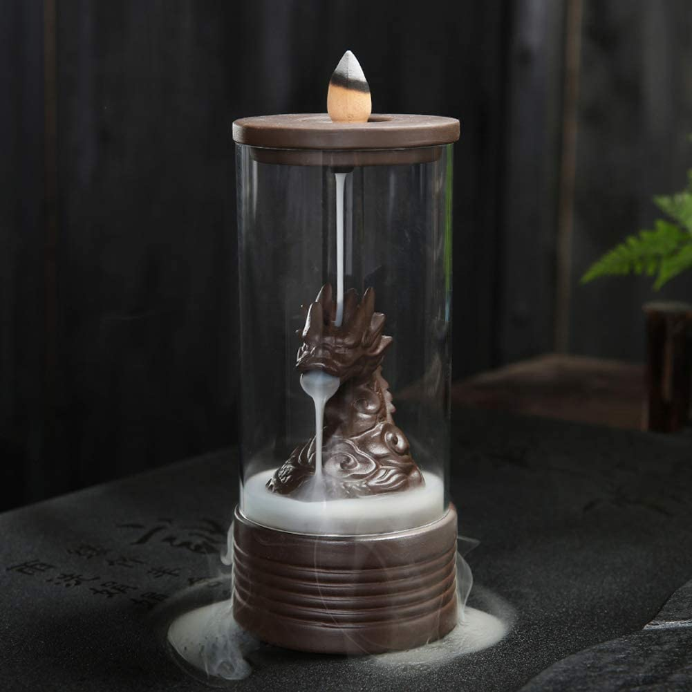 Sandalwood Cones Backflow Censer Craft  Incense Burner Holder Decor Home