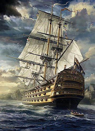 21secret 5D Diamond Diy Painting Full Round Drill Handmade Carrack Ship Saling Boat in The Sea Cross Stitch Home Decor Embroidery Kit