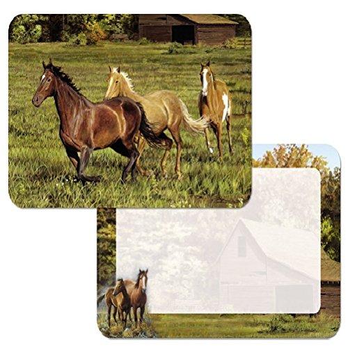 4 Reversible Placemats Horses