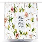 Stylish Shower Curtains Inspirational Quote Doing What You Like Is Freedom Liking What You Do Is Happiness Written In 404754622 Polyester Bathroom Shower Curtain Set With Hooks