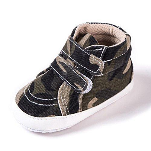 HUHU833 Kinder Mode Baby Schuhe Soft Sole, Baby Kleinkind Schuhe Tarnungs Weiche Anti Rutsch Turnschuhe Beiläufige Schuhe Junge (0~12 Month) Camouflage