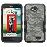 lg ultimate 2 case - [Digital Camo Gray]( Black / Black)UNIQUITI(TM) cell phone armor cover [TuMax] dual layer hybrid hard skin guard ultra protective shell (for lg ultimate 2 optimus l70 l41c )