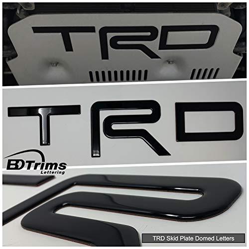 BDTrims Domed Letters Inserts fits TRD Skid Plate for 4Runner 2015-2019 Models (Glossy Black)