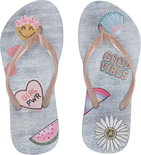 (Reef - Girls Kids Escape Lux Fun Sandals, Size: 7/8 M US Toddler, Color: Good Vibes)