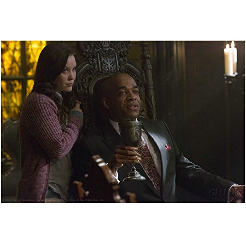 Rick Worthy 8 inch X 10 inch photograph Supernatural (TV Series 2005 - ) Seated Holding Goblet w/Laci J. Mailey Pose 1 kn