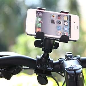 PhoneWiz 360 Degree Rotatable Bicycle Bike Phone Holder Handlebar Clip Stand Mount Bracket for iPhone Samsung Cellphone GPS MP4 MP5