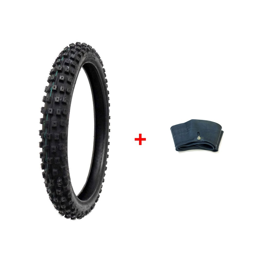 MMG Combo Dirt Bike Tire Size 70/100-19, Includes Inner Tube Size 70/100-19 TR4 Valve Stem 512BIXTeA2BgL