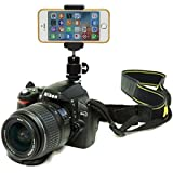 DSLR Hot Shoe Flash Camera Mount Holder for Smartphone Cellular mobile phone
