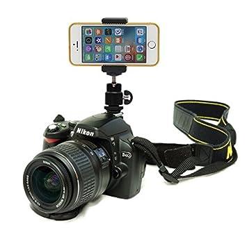 DSLR zapata destello soporte de cámara para teléfono móvil: Amazon.es: Electrónica
