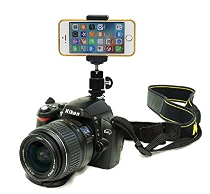 more photos 73ef5 dd542 DSLR Hot Shoe Flash Camera Mount Holder for iPhone 6 plus/iPhone 6 5S 5C 5G  4S 4G