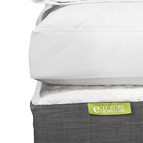 eLuxurySupply Quilted Deluxe Blended Feather and Down Bed/