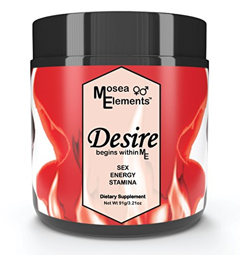 - Mosea Elements All Natural Desire- A Fusion of Wild Harvested and Organic Tongkat Ali Horny Goat Weed Promotes Hormone Balance Increased Blood Flow Energy Mood And Libido For Men and Women