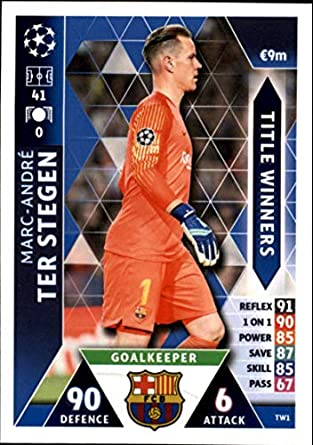 1c5595648 2018-19 Topps UEFA Champions League Match Attax Title Winners  TW1  Marc-Andre