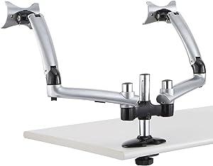 Cotytech Dual Apple Desk Mount Spring Arm Grommet Base - Silver (DM-GS2A-G)