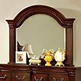 Grandom Traditional Style Mirror In Cherry Finish