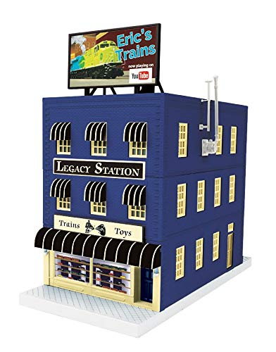 (MTH 30-90561 Legacy Station & Eric's Trains Exclusive Building-Uncatalogued)