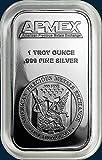 APMEX (Sealed) 1 Tr. Oz .999 Fine Silver Bullion Bar in Plastic Holder or Sealed.