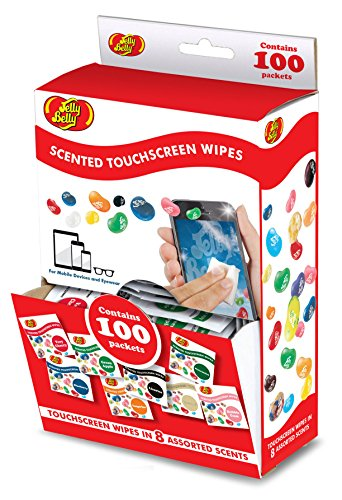 (Jelly Belly Scented Alcohol Free Touchscreen Wipes for Mobile Devices and Eyewear (100 Wipes in Assorted Scents))