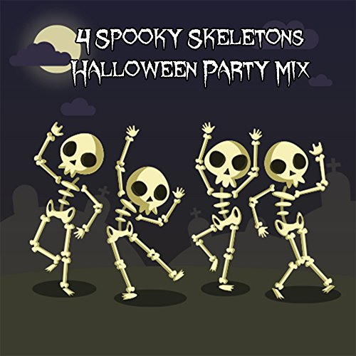 4 Spooky Skeletons Halloween Party -