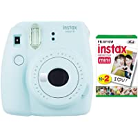 $70 » Fujifilm instax Mini 9 Instant Camera (Ice Blue) with Film Twin Pack Bundle (2 Items)