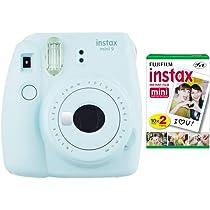 Fujifilm Instax Mini 9 Instant Camera Ice Blue With Film Twin Pack Bundle 2 Items Instant Cameras Amazon Com Au