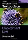 Honeyball and Bowers' Textbook on Employment Law, Honeyball, Simon, 0199685622