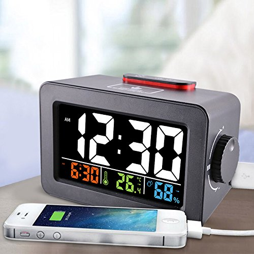 Digital Alarm Clock Lcd With Usb Charging Port For Cell