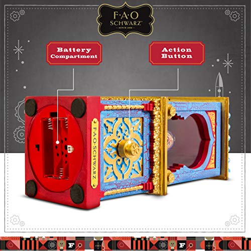 FAO Schwarz Zoltan The Fortune Teller Vintage Carnival-Style Fortune Telling Machine, Button-Activated Talking Fortunes with LED Light & Animation; Classic Retro Design in Blue/Red/Gold by FAO Schwarz (Image #6)