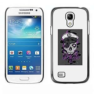 EJOY---Cubierta de la caja de protección la piel dura para el ** Samsung Galaxy S4 Mini i9190 ** --Cráneo del pirata