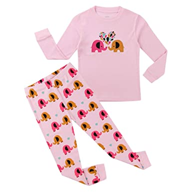 ae8809a67c Amazon.com  Hsctek Girls Pajamas Set