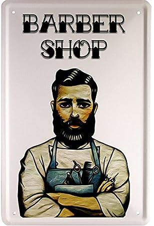Barber Shop Peluquería 20 x 30 cm cartel de chapa 1637