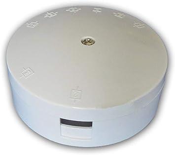 Caja de conexiones redonda (90 x 32 mm, entrada selectiva, 30 A, 3 terminales): Amazon.es: Bricolaje y herramientas