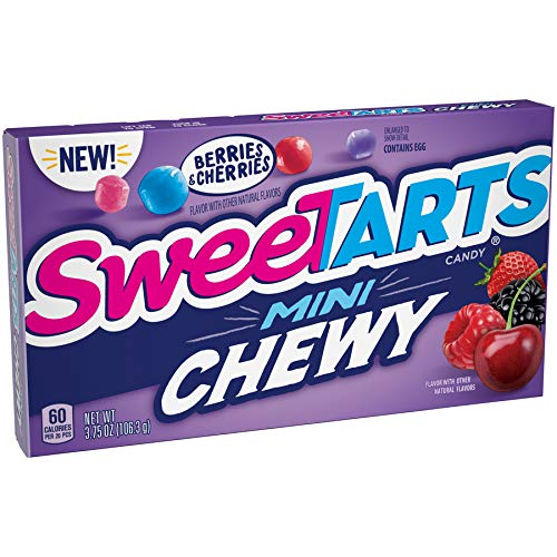 SweeTARTS Mini Chewy Candy, Berry, 3.75 oz (Pack of 12)