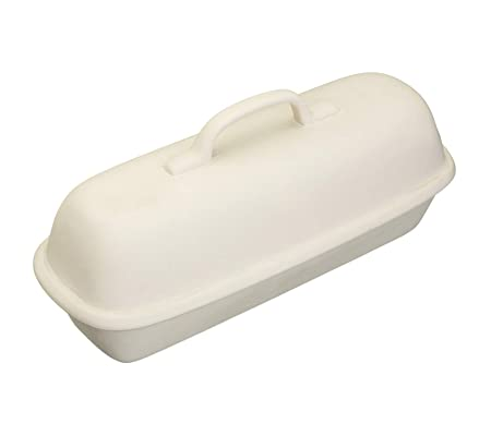 Kitchen Craft - Molde de Campana Rectangular para Hornear Pan, 39 cm, cerámica de gres