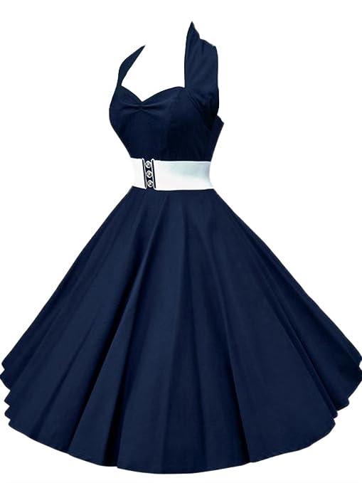 81 opinioni per VKStar®Abito Retrò Chic Stile Halter Vintage 1950 Audrey Hepburn Vestito da