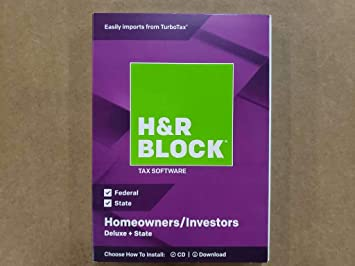 State 2018 Homeowners//Investors New-sealed H/&R Block Tax Software Deluxe