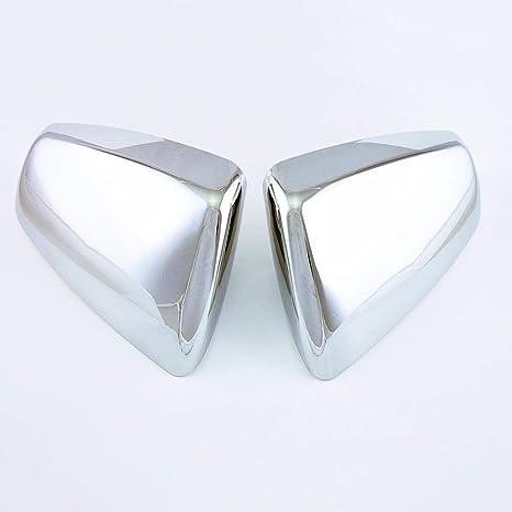 2pcs Top Half Triple Chrome Mirror Covers For Cadillac SRX Model