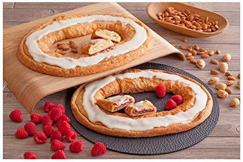 Danish Kringle Pair - Raspberry & Almond (Best Kringle In Wisconsin)