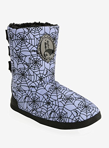Purple Spiderweb Nightmare Christmas Slipper Nightmare Slipper Boots Spiderweb Before The Purple The Before Christmas gdwFpnPxq
