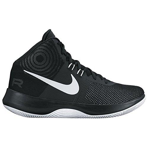 Nike Men's Air Precision Black/White/Cool Grey Basketball Shoe (11.5) KvADK