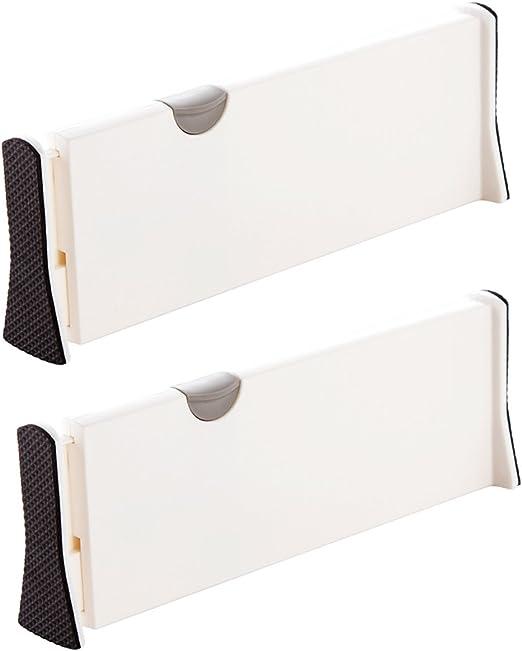 MulYeeh 2 PCS Expandable Drawer Dividers Wardrobe Storage Organization Adjustable Dresser Drawer Divider Drawer Organizer Silverware and Utensils Separators