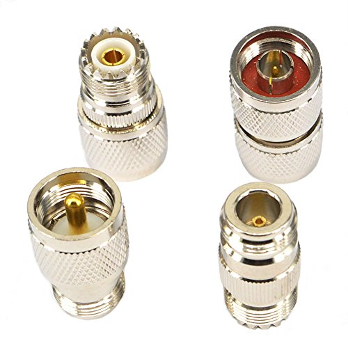RF Coaxial Adapter Connector Kit N Male/Female to UHF PL-259 SO-239 M/F Straight - 259 Pl Type