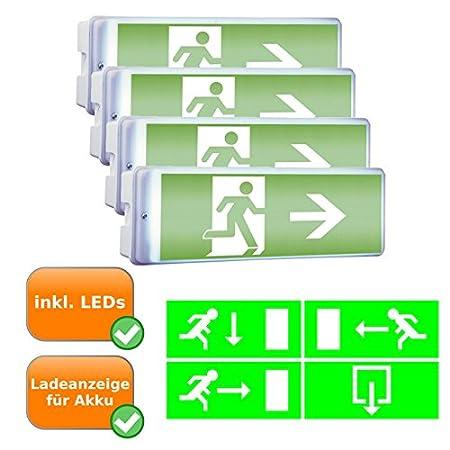 4 Luz de emergencia carteles de vía y salida de emergencia ...