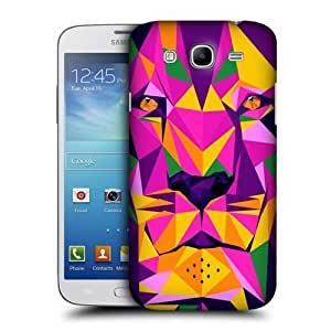 AIYAYA Samsung Case Designs Tiger Geometric Animals Protective Snap-on Hard Back Case Cover for Samsung Galaxy S4 I9500