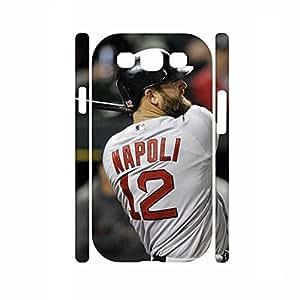 Awesome Elegant Custom Baseball Player Print Skin for Samsung Galaxy S3 I9300 Case