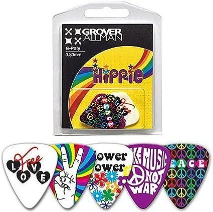Púas para guitarra Hippie: Amazon.es: Instrumentos musicales