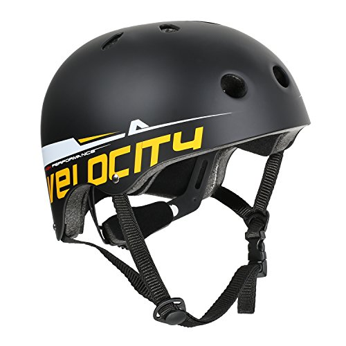 VOKUL Skate Helmet CPSC ASTM Certified Impact Resistance Ventilation for Kid/Youth/Adult Skateboarding Inline Skating Cycling and Other Outdoor Sports (Black, M)