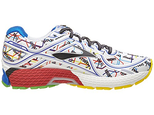 Brooks Adrenaline GTS 16 - Zapatillas de Entrenamiento Mujer Electric Blue/High Risk Red/Black/Cyber Yellow