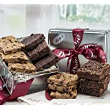 Dulcet Gourmet Chocolate Fudge Brownie Prime Gift Basket, Great Gift – Includes: Chocolate Brownies, Walnut Brownies, Chocolate Chip blondes, ideal gift idea