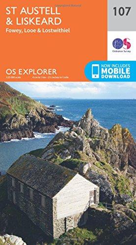 St.Austell, Liskeard, Fowey, Looe and Lostwithiel (OS Explorer Map)